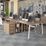 Office Wooden Desk Workstation with Front Screen Partition