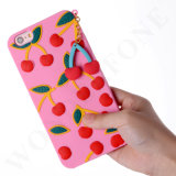3D Silicone Case with Cherry Design