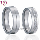 High Polish Jewelry Ring CNC Wedding Ring Handmade CZ Zircon Wedding Ring for Men and Women