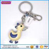 Guangzhou Factory Hot Sale CZ Stones Keychains, Duck Pendant Keychain
