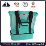 Mesh Beach Tote Bag with Picnic Cooler Bag