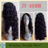 Black 1b# Remy Human Hair Wig Human Hair Lace Front Wig (ZY104HH)