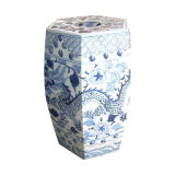 Blue and White Porcelain Stool (LS-25)