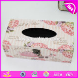 Wholesale Cheap Customize Square Wooden Tissue Holder Box W18A008