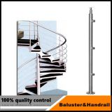 Stair Balcony Tempered Glass Handrail / Stainless Steel Stair Glass Railing