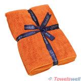 Orange Soft Microfiber Terry Bath Towel