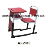 Adjustable Pink School Furniture Student Table and Chair Set