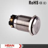 19mm TUV RoHS UL Flat Screw Terminal Metal Push Button Switch