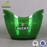 Hot Custom Logo Give Away Acrylic PS Ice Bucket 8L Plastic LED Ice Bucket