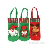 Christmas Pattern Santa Wine Gift Bag