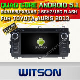 Witson Android 5.1 Car DVD GPS for Toyota Auris 2013 with Chipset 1080P 16g ROM WiFi 3G Internet DVR Support (A5534)