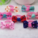 Children Lovely Dotted Ribbon Bowknot Towel Hairbands (JE1544)