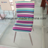 Fashion Striped Design Fabric Restaurant Chair with Ss Leg (FOH-BC38-C)