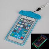 High Sealed Below 6 Inch Cellphone Universal Glow in Dark Noctilucent Waterproof Bag