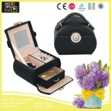 Hot Selling Black Leather Jewelry Box with Round Lock (2126)