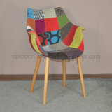 Modern Wooden Leg Upholstered Fabric Patchwork Chair (SP-EC850)