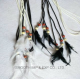 Fashion Tassel Tie Made of Feather Pendant and Beads