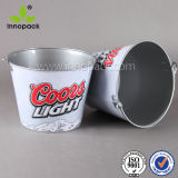 Metal Tin Bucket for Beer Wine Coolers Tin Ice Bucket for Wholesale