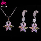 Promotion Price Fashion Shining Flower Design Jewelry Sets for Girls