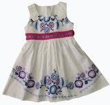Fashion Solid Color Girl Dress, Popular Children Clothing (SQD-133)