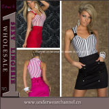 High Quality European Women Fashion Sleeveless Summer Career Dress (N188)