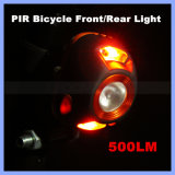 with or Without PIR Function New 500lm Super Bright Bike Front Light 2 Mode Wireless Motion Sensor LED Bicycle Light