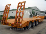Three Axles Low Platform Lowbed Heavy Cargo Lowboy Gooseneck Semi Trailer