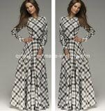 Clothing Long Sleeve Pleuche Dress for Lady