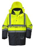 High Visibility Reflective Jacket Parka Safety Workwear