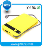 8000mAh Portable Mobile Power Bank with Built-in USB Cable