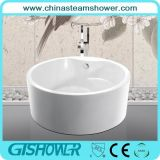 New Style Bathtub with Seat, Rounded Acrylic (KF-759)