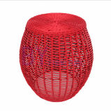 New Style Creative Hand Weaving Colorful PE Rattan Stool