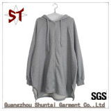 Wholesale High Quality Casual Apparel Hooded Sweater Coat with Full Zipper