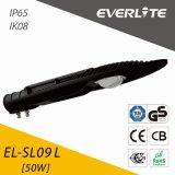 Everlite 50W COB LED Street Light ADC12 Aluminum Die-Casting