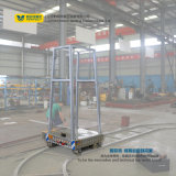Lithium Battery Powered Industry Track Carriage Circular Rail Transfer Cart