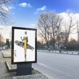 Outdoor Scrolling Signs- Rotating Lightbox-Advertising Rolling Stand Board Mupi