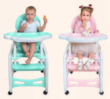 Baby Dining Chair Plastic 3 in 1 Baby High Chair with Table