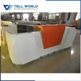 Customized Luxury Office Front Desk Acrylic Reception Counter Design
