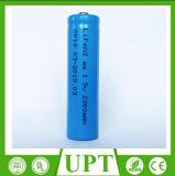 1.5V 2900mAh AA Size Li/Fes2 Battery Lithium LiFePO4 Batteries