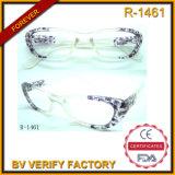 R1461 New Designed Transparent Pattern Plastic Frames Reading Glasses