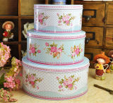 Flowers Tin Metal Boxes Set for Biscuit Cracker Cookie Bakery
