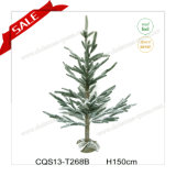 H3-5 Feet Direct Manufacture Snowing PE Christmas Tree Garden Decoration