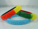 Colorful Custom Debossed/Embssed/Print Silicone Wristband
