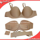 Lingerie Push up Nude Invisible Open Cup Bra (DYS-002)