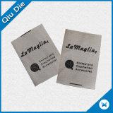 Natural Cream Cotton Material Garment Label Design