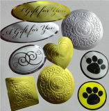 Small Golden Silver Gift Decorating Labels