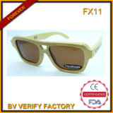 Fx11 Wholesale High Quality Handmade Wood Sunglasses with Polarised Lens