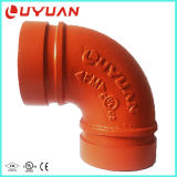 UL FM Approvals Ductile Iron Grooved Elbow with 90 Degree 45 Degree 22.5 Degree for Fire Safety System