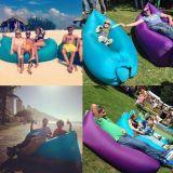 Fast Inflatable Camping Sofa Sleeping Bag Laybag Nylon Air Bed Kaisr Lamzac Hangout