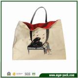 Elegant Fashion White Canvas Handbag with Piano Pattern